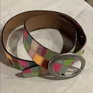 Fossil Accessories - Fossil Multicolored Leather Belt Large Mustard